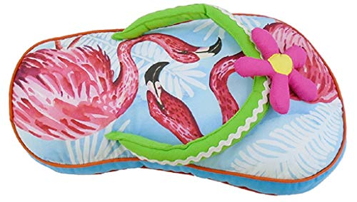 Chesapeake Bay Flip Flop Pillow 70151 11 Inches x 18 Inches (Blue)