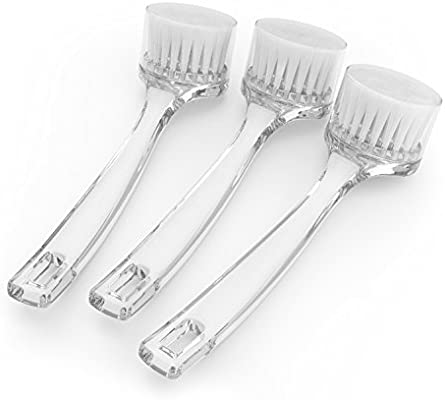 Amazon Com Facial Cleansing Brush Face Exfoliating Tool Gently Cleans And Exfoliates Skin Helps Remove Make Up Increases Blood Flow Set Of 3 Acrylic Brushes By Christina Moss Naturals Beauty
