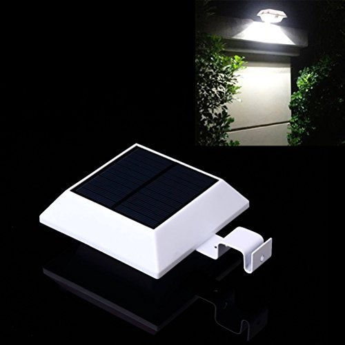 Solar Motion Sensor Light Outdoor 150LM Brighter Design/ PIR Sensor Solar Powered Led/ Waterproof Durable/ Fence Wall Driveway Garden Patio Path Decking Light White Light