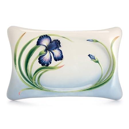 Franz Porcelain Collection Eloquent Iris Flower Large Tray Amazon
