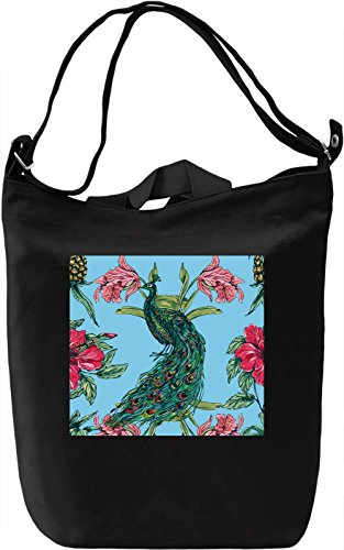Peacock Full Print Borsa Giornaliera Canvas Canvas Day Bag| 100% Premium Cotton Canvas| DTG Printing|