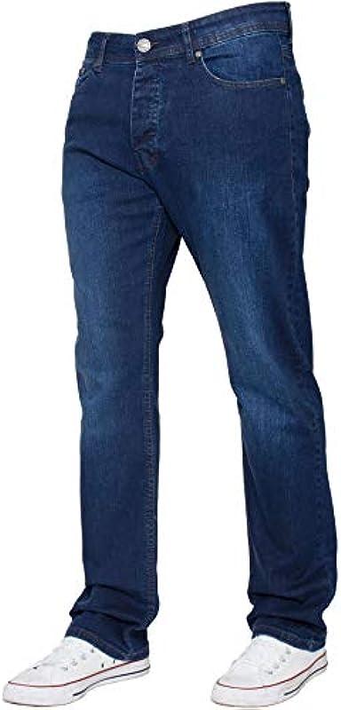 Enzo designerskie męskie spodnie dżinsowe z prostą nogawką i stretchem, regular fit, komfortowe: Odzież