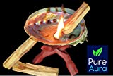 """Pure Aura 5"""" to 6"""" Abalone Shell Smudge Bowl with"""