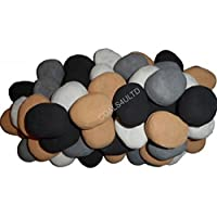 20 Gas fire Replacement Ceramic Pebbles 4 Colours In Branded Coals 4 U Packing