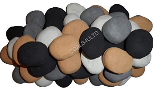 20 Gas fire Replacement Ceramic Pebbles 4 Colours In Branded Coals 4 U Packing coals 4 you