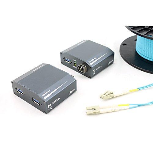 (USB 3.0 Optical Link Extender/Repeater, FireNEX-5000S Optical Fiber Extender, Extend USB 3 Signal Up to 300 Meters, 1000 Feet )