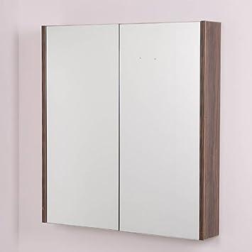 Bathroom Mirror Cabinet Wall Storage Furniture 60cm Mounted Hung Recessed Large Modern Designer Glass 2 Door
