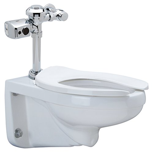Zurn Z5615.270.00.00.00 1.28 gpf Wall Hung Elongated Toilet System with Top Spud, Diaphragm EZ Flush Battery Sensor Valve