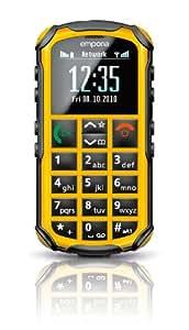 """Emporia Solid 1.8"""" 92g Amarillo - Teléfono móvil (SIM única, Despertador, calculadora, calendario, Recordatorio de eventos, Ión de litio, GSM, Polifónico, 128 x 160 Pixeles)"""
