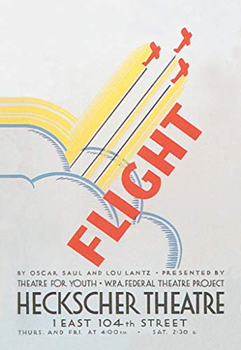 "Buyenlarge Flight by Oscar Saul and Lou Lantz Heckscher Theatre 1 East 104th Street by WPA Wall Decal, 36"" H x 24"" W from Buyenlarge"