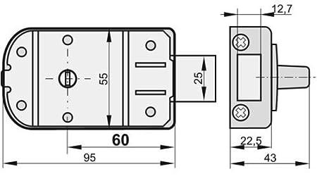 Wei/ß KOTARBAU Zusatzschloss 60 mm 3 Farbe mit Au/ßenzylinder Gleichschlie/ßend Kastenschloss T/ürzusatzschloss T/ürschloss Schloss Kastenzusatzschloss