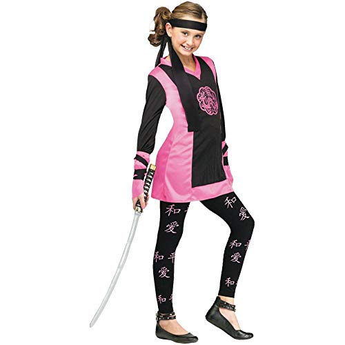 Dragon Ninja Girl Kids Costume, Black /