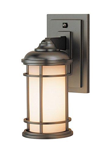 Feiss OL2200BB, Lighthouse, 1 Light Wall Lantern, Burnished Bronze Bronze Lighthouse Lantern