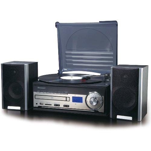 オークセール Dioconnect SD/CD/レコードオーディオシステム ブラック DR-260   B006FA7AX4