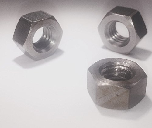 5/16-24 Left Hand (Reverse) Thread Hex Nut Fine Thread Stainless Steel 18-8(10 Pack) Made in USA