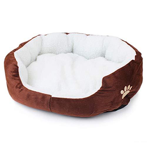 Krastal Dog Bed Winter Warm Dog Cat Puppy's Fashion Comfortable Soft Pad Bed Pet Cushion Mat ()