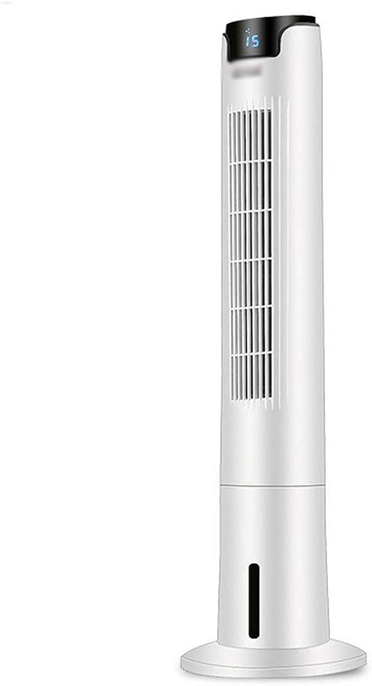 Ventilador de torre con tanque de agua de 4 litros, aire acondicionado, control remoto de velocidad de 3 vientos, silenciador de ahorro de energía con sincronización, suministro de aire de gran angula: