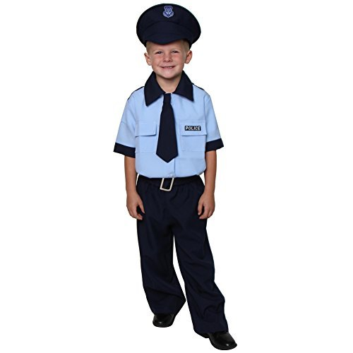 [Navy Deluxe Policeman Costume Size 6/8] (Police Costumes For Men)