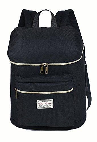 FSLiving Rucksack Taschen, Reisetaschen / Praktische Schultaschen (bis 17 Zoll) -Black