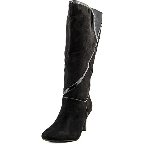 Price comparison product image Karen Scott Mailaa Wide Calf Women Round Toe Synthetic Mid Calf,  Black,  Size 6.5
