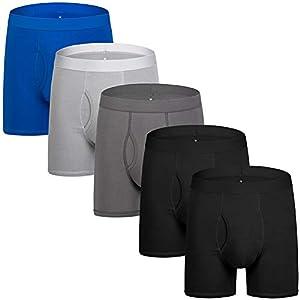 Men's Underwear Boxer Briefs Cotton Spandex Breathable Mens Boxer Briefs Boxer Shorts for Men Pack S M L XL XXL