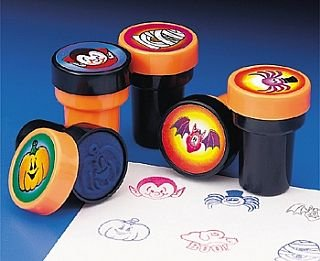 24 Halloween Self Inking Stampers for Kids Party Bags | Kids Crafts -