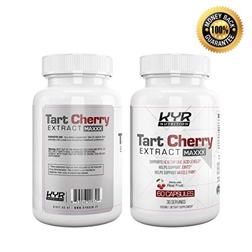 KYR Tart Cherry Extract Capsules with Celery Seed-Flush Excess Uric Acid Providing Joint Comfort, Healthy Sleep and Muscle Recovery -Our Most Effective polyphenols Supplement ever-60 Veg Cap (3 Pack) by KyRush It (Image #3)