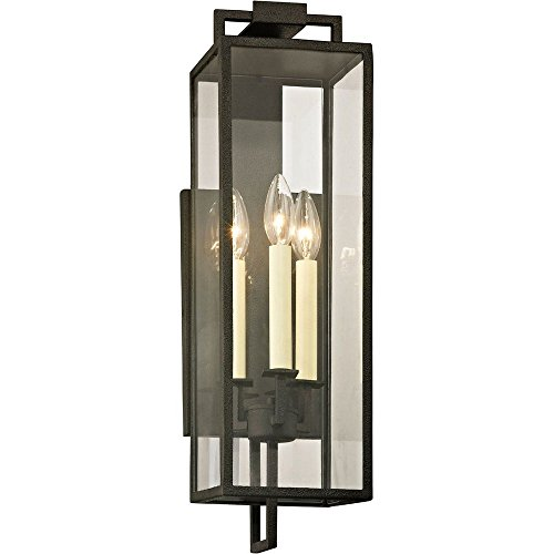 Sconce Troy Incandescent (Troy Lighting B6382 Beckham Outdoor Wall Sconce Forged Iron Finish)