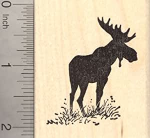 Bull moose silhouette rubber stamp arts for Rubber stamps arts and crafts