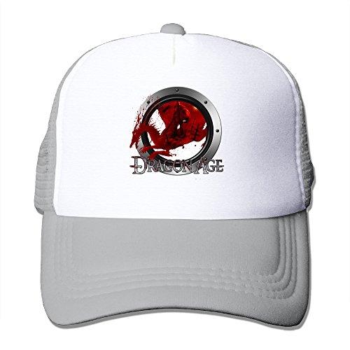 Dragon Logo Hat - ITMEIAL Dragon Age Origins Logo Mesh Cap Trucker Hat