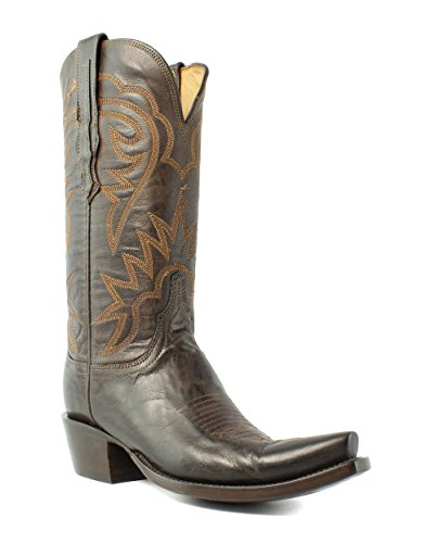 Lucchese HL4510.S54 Brinley Womens Chocolate Goat Leather Cowboy Western Boots