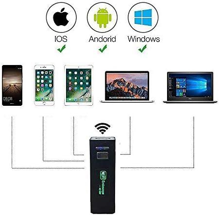 WiFi内視鏡カメラ、内視鏡カメラ検査カメラ、5.0メガピクセル1200 p HD半硬質ケーブルボアスコープカメラfor Android、IOS、iPhone,10metridilunghezza