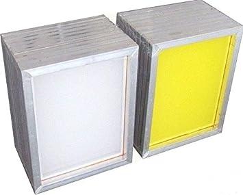 2 Pack Aluminum Silk Screen Printing Screens 25 * 35 CM Frame-110 White Mesh