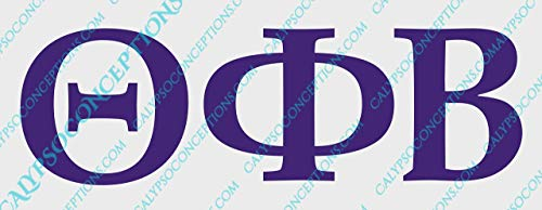Customizable Greek Lettering Decal - Perfect for Sororities, Fraternities, Greek Week, Rush Events, Laptops, Vehicle windows, Notebooks, Travel Mugs, Yeti cups, etc. Choose Letters, Colors & Size