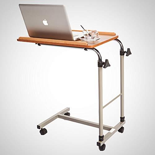 NESSTIC Adjustable Bed Table, Overbed Table with Wheels, Over Bedside Home Desk, Movable Sofa Side Table, Computer Desk for Reading, Eating, Bedridden, Elderly, Senior Patient Aid, Hospital Medical