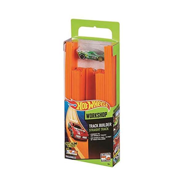 Hot Wheels- Track Builder Confezione da 15 Rettilinei e Veicolo Incluso, Multicolore, BHT77 5 spesavip