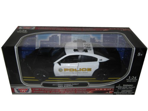 2011 Dodge Charger Pursuit San Gabriel Police Car 1/24 by Motormax 76936