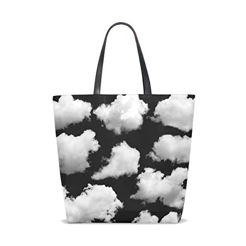 Bennigiry Tote Over Bolso Isolated Mujer Black Hombro Clouds Para Al 001 Única Talla SfSAwp