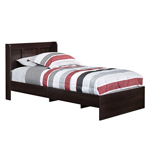 Platform Bed with Headboard, Cinnamon Cherry - Guestroom Children's Bedroom Bed Set for Relaxed Sleeping - Engineered Wood Construction ()