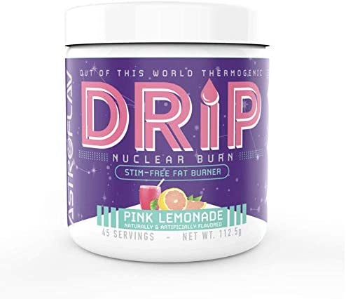 AstroFlav Drip Fat Burner, Caffeine and Stimulant Free Weight Loss Formula, Metabolism Booster, L-Carnitine Matrix, 45 Servings, Pink Lemonade