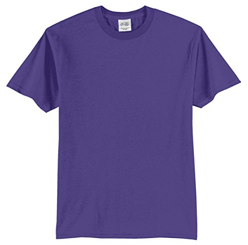 Port & Company Mens 50/50 Cotton/Poly T-Shirt PC55 -Purple (6xl 6x T-shirt)