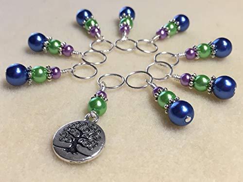 Tree of Life Knitting Stitch Marker Jewelry Set