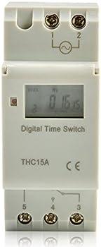 THC15A Rail Digital programmierbarer Zeitschalter DC 12V AC 110 220V
