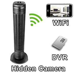 PalmVID WiFi Tower Fan Hidden Camera Spy Camera with Live Video Viewing