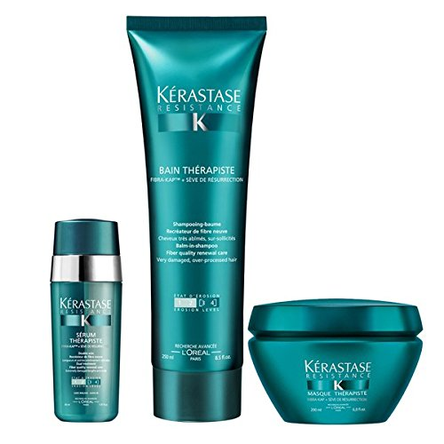 Kérastase Resistance Therapiste Shampoo 250ML, Masque 200ML And Serum 30ML Trio by Kérastase