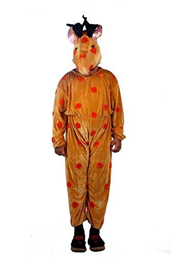 [Shree Balaji Dress Big Boys' Wild Deer Animal Fancy Dress Cosplay Costume Small Brown] (Forest Animal Halloween Costumes)
