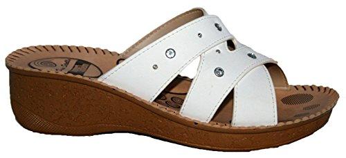 Gezer - Sandalias de vestir para mujer Blanco - blanco