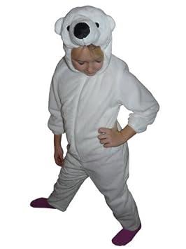 Tamaño F24 122-128 disfraz de oso polar para niños, fácil de ...