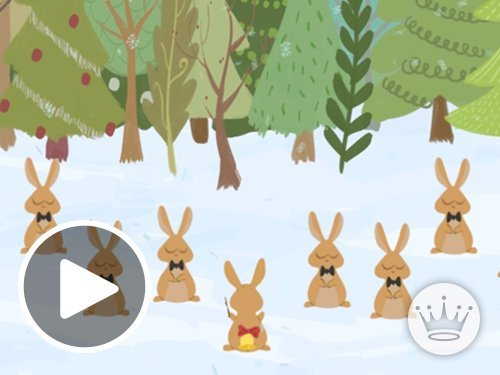 Christmas Bunnies - Animated eGift Card