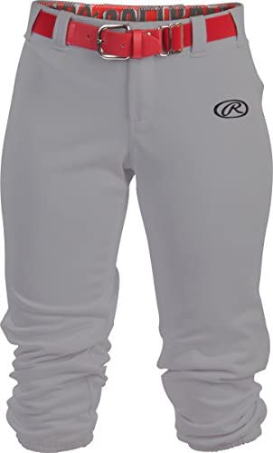 Rawlings Womens Low Rise Belted Fastpitch Softball Pant
